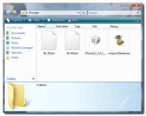 Odblokování iPhone 2 0 x 2G – přes WinPwn (Windows)